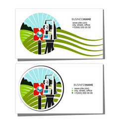 Geodesy and cadastre business card vector