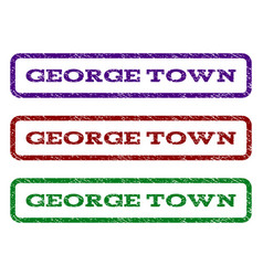 george town watermark stamp vector image