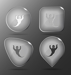 Ghost Glass buttons vector
