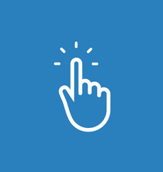 hand pointer click icon cursor button finger vector image