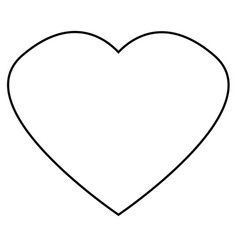 heart outline icon on white background flat vector image