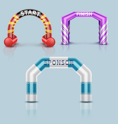 Inflatable race start and finish archway outdoor vector