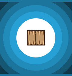 Isolated backgammon flat icon dice element vector