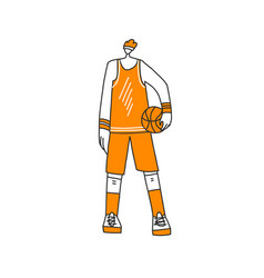 lined sportsman in sport vector image