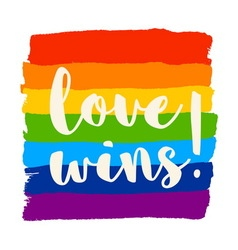 Love wins poster vector image