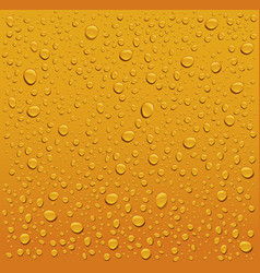 Many water drops on orange backgrounds vector