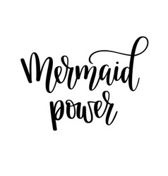 Mermaid power lettering design vector