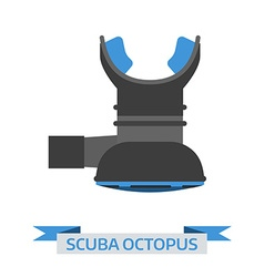 Octo scuba regulator vector image