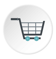 online shopping icon circle vector image