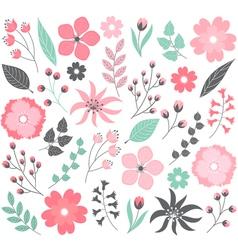 Pastel Floral Set vector image