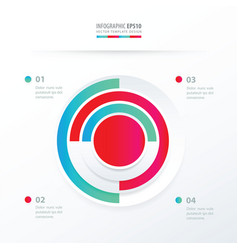 pie chart infographics blue and pink color vector image