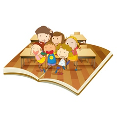 Pop up book Classroom vector image