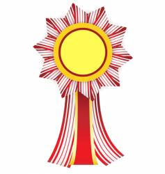 red-white badge with yellow center vector image