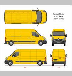 Renault master cargo van l3h2 fwd 2014-2019 vector