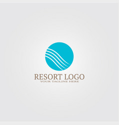 resort logo template logo for business corporate vector image
