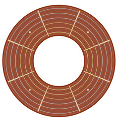 round guitar fretboard vector image
