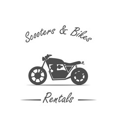 Sale and rental bikes vector