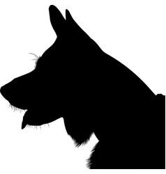 shepherd dog silhouette german shepherd vector image