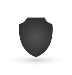 shield icon in trendy flat style design shield vector image