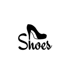 shoes logo royalty free vector image vectorstock