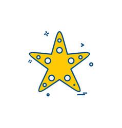 Starfish icon design vector