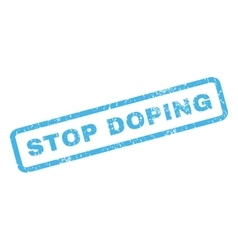 Stop Doping Rubber Stamp vector