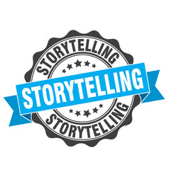 Storytelling stamp sign seal vector