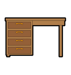 Table desk isolated icon vector