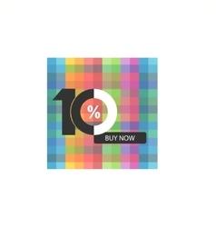 Ten symbol years anniversary logo discount vector image