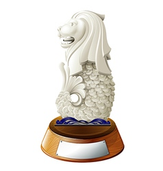 The statue of Merlion vector