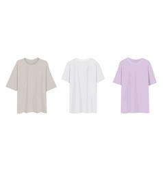 Three base t shirts vector