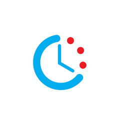 time iconclock icon with dots isolated on white vector image