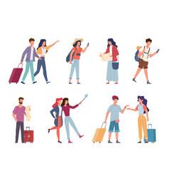 tourists seasonal recreation travelling people vector image
