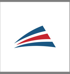 transportation logo abstract red and blue vector image
