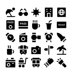 Travel icons 5 vector