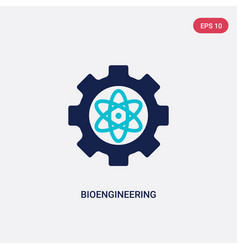 two color bioengineering icon from general-1 vector image