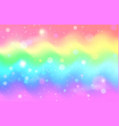 Unicorn rainbow wave background mermaid galaxy vector