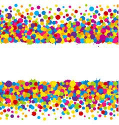 vibrant color holi paint splashes design elements vector image