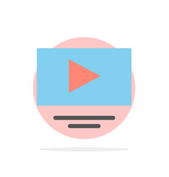 Video play youtube abstract circle background vector