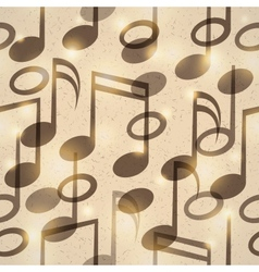 vintage music pattern vector image