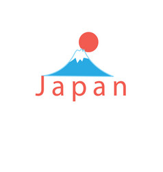 word japan and mount fuji vector image