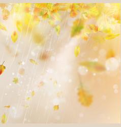 Autumn season blurred leaves eps 10 vector