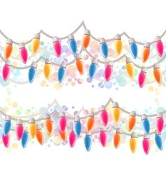 Seamless horizontal Christmas border vector image vector image