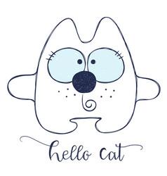 friendly cartoon cat vector image vector image