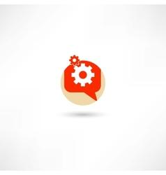 gear in a bubble speech vector image
