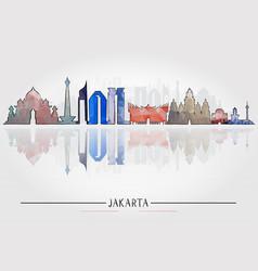 jakarta architecture tourism concept vector image vector image
