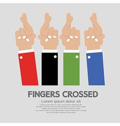Fingers Crossed vector image vector image