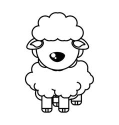 Sheep animal farm isolated icon vector