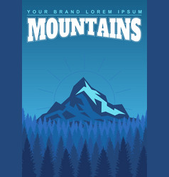 bright landscape of mountains and forests vector image