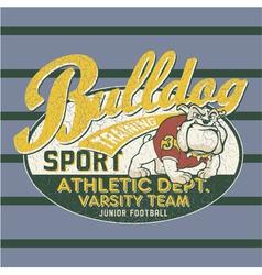 Bulldog football team vector image vector image